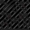 building, christmas, holidays, house, newyear icon