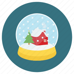 christmas, dome, gift, gifts, glass, glass ball, glass dome, new, ornament, snow, tree, x-mas, year icon