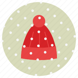 christmas, hat, new, snow, winter, wool, year icon