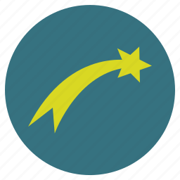 christmas, new, shooting star, star, tail, x-mas, year icon