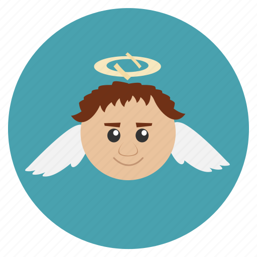 angel, christmas, new, retro, wings, year icon