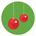 ball, christmas, new, ornament, red, round, year icon