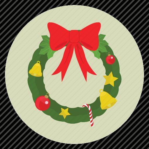 christmas, holiday, new, ornament, ribbon, season, wreath, wreaths, x-mas, year icon