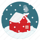 chimney, christmas, cold, house, new, season, snow, snowing, winter, x-mas, year icon