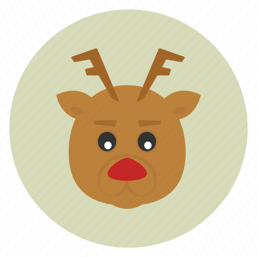 christmas, deer, new, reindeer, rudolf, rudolph, x-mas, year icon