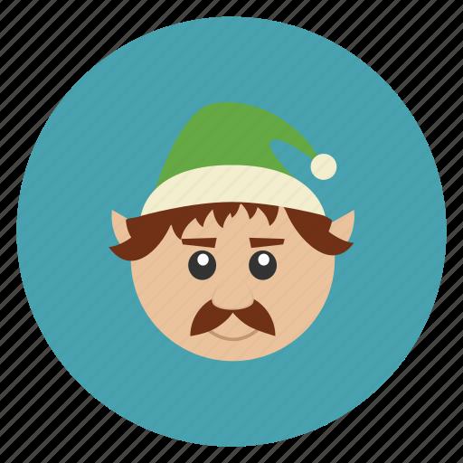 christmas, elf, minion, new, servant, year icon