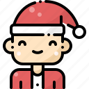 avatar, boy, christmas, claus, hat, santa, wear