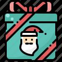 box, christmas, claus, gift, present, santa, winter