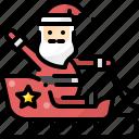 avatar, christmas, claus, ride, santa, sleigh, xmas