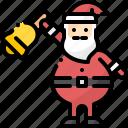 avatar, bell, christmas, claus, ring, santa, xmas