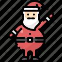 avatar, christmas, claus, santa, standing, winter, xmas