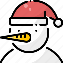 christmas, face, head, new year, snow, snowman, winter icon