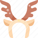 accessories, antler, deer, fashion, headband, reindeer, wear icon