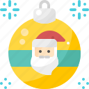 ball, christmas, claus, decoration, ornament, santa, xmas icon