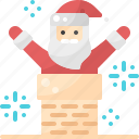 action, christmas, claus, fireplace, santa, winter, xmas