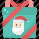 christmas, present, santa, claus, box, winter, gift