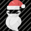 beard, christmas, claus, face, hat, santa, xmas