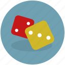 casino, cubes, dice, gamble, lottery, play, random, single die icon
