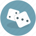 activity, casino, chance, cubes, dice, fortune, gamble, gamification, lottery, luck, play, random, single die icon