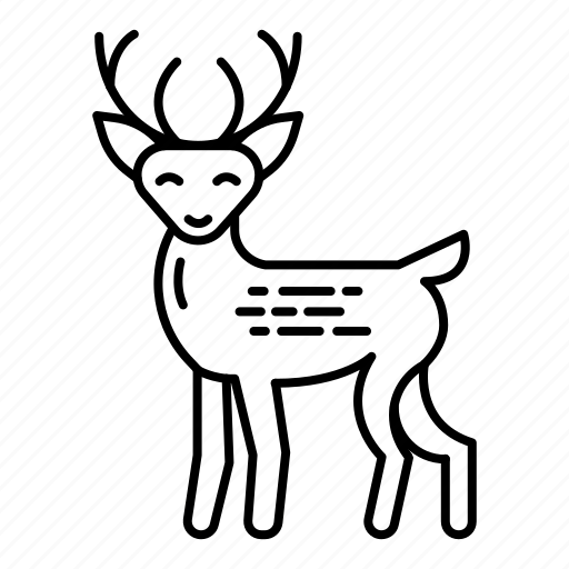 celebration, christmas, deer, deer rudolph, holiday, vacation, xmas icon