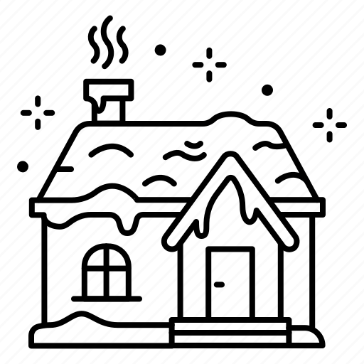christmas, holiday, house, snow, snow-covered house, snowing, winter, xmas icon