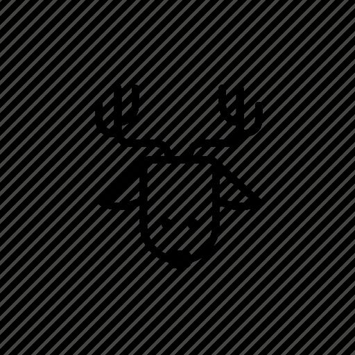 .svg, christmas reindeer, deer, reindeer icon