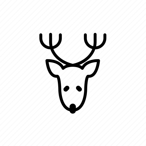 .svg, christmas reindeer, deer, reindeer icon