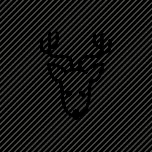 .svg, christmas reindeer, reindeer icon