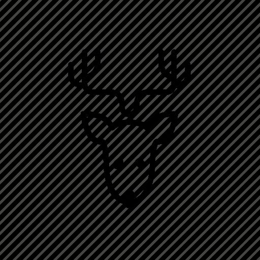 .svg, christmas reindeer, reindeer, reindeer horn icon