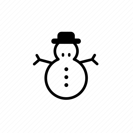 .svg, christmas snowman, hat, snow, snowman, winter, xmas icon
