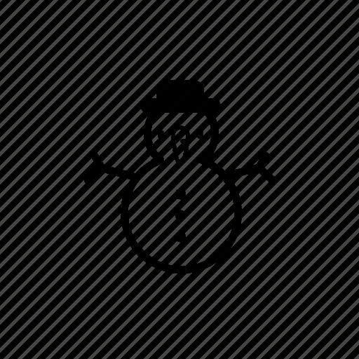 .svg, christmas snowman, hat, snowman, winter, xmas icon