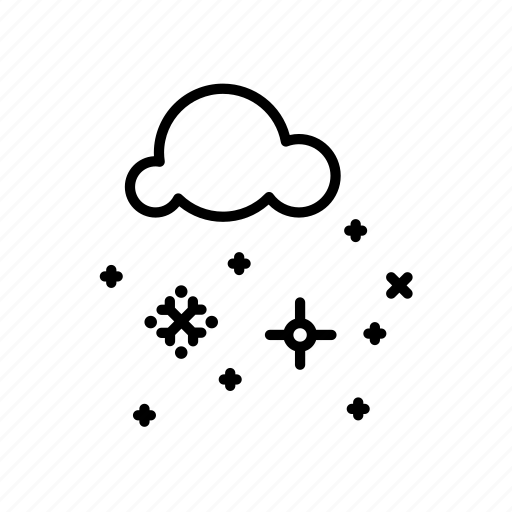 .svg, cloud, flake, snow, winter icon