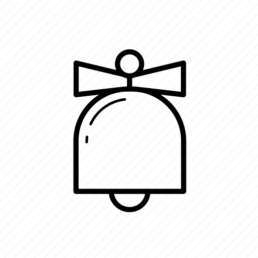 .svg, bell, bow, christmas, christmas decoration icon