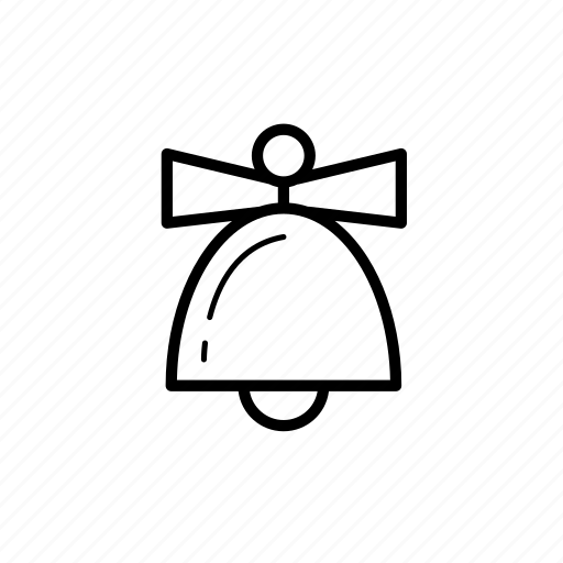 .svg, bell, bow, christmas icon