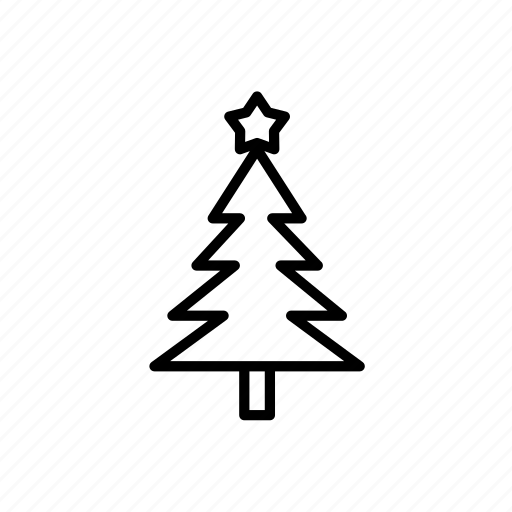 .svg, christmas tree, star, winter icon