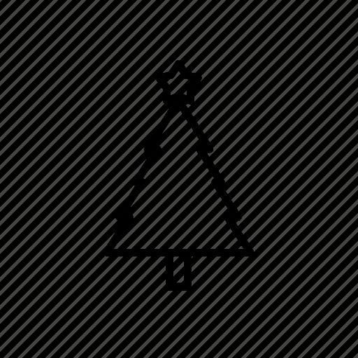.svg, christmas tree, star, winter icon