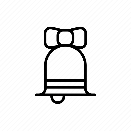 .svg, alarm bell, bow, christmas bell icon