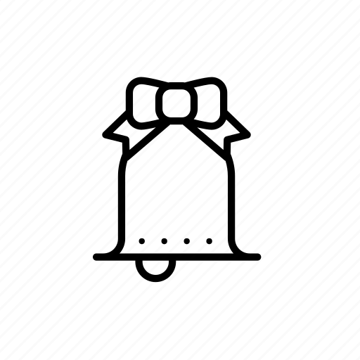 .svg, bell, bow, christmas bell icon