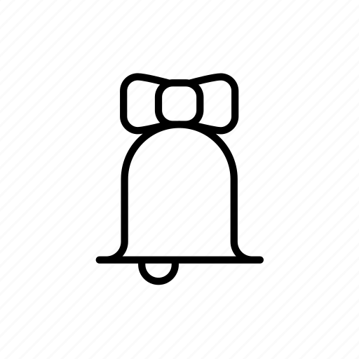 .svg, alarm bell, bell, bow, christmas bell icon