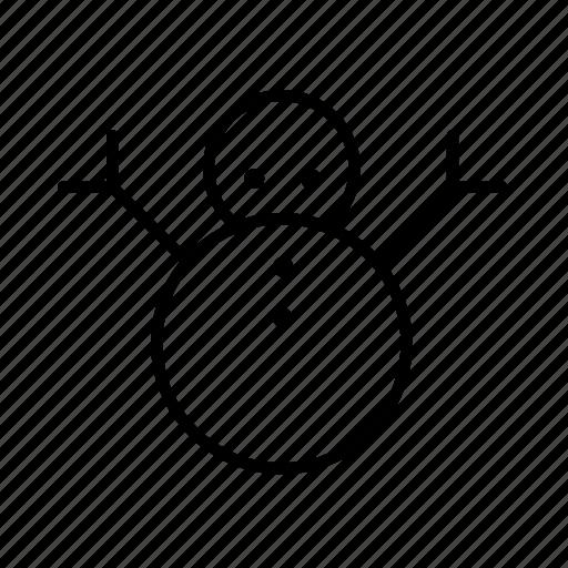 .svg, cold, snowman, winter icon