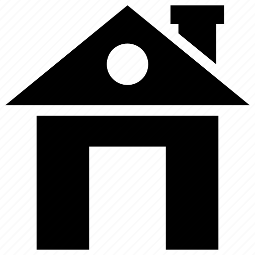 chimney, cold, house, smoke, winter icon
