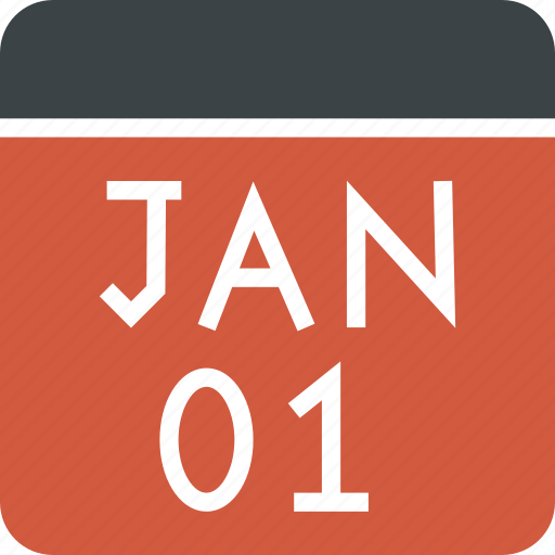 calendar, date, day, january, month, new year icon