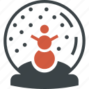 ball, christmas, crystal, gift, present, snow, snowman icon