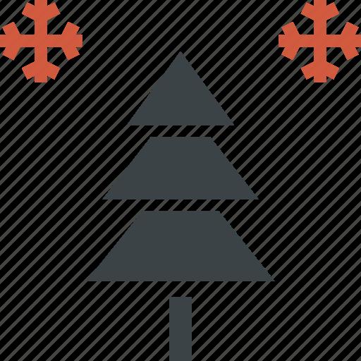 celebration, christmas, decoration, new year, snow, snowflake, tree icon