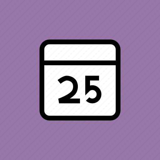 calendar, celebration, christmas, date, december, festival, holiday icon