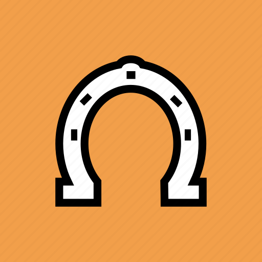 fortune, horseshoe, luck, lucky, magnet, superstition icon