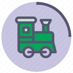christmas, green, toy, train, transportation, violet, wooden icon