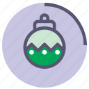 bauble, circle, glass, green, rounded, violet
