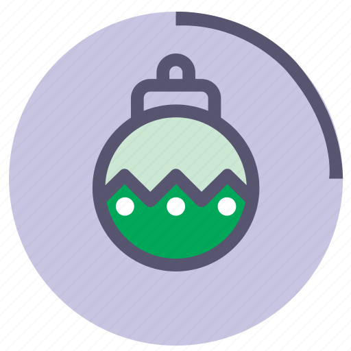 bauble, circle, glass, green, rounded, violet icon
