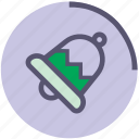 bell, green, metallic, ring, sound, violet icon
